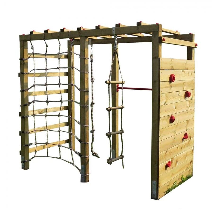 Klettergerüst Holz Kletterwand