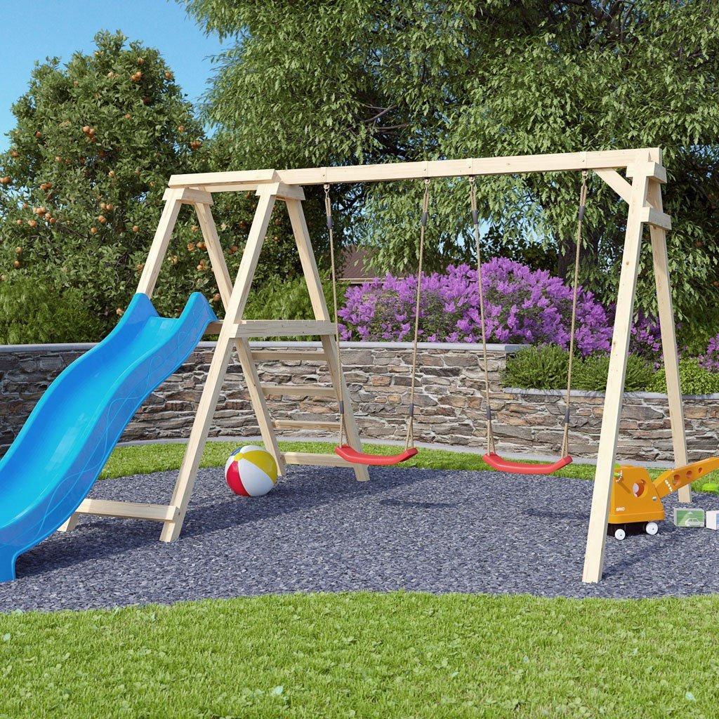 Klettergerüst Schaukel Rutsche Garten Spielplatz