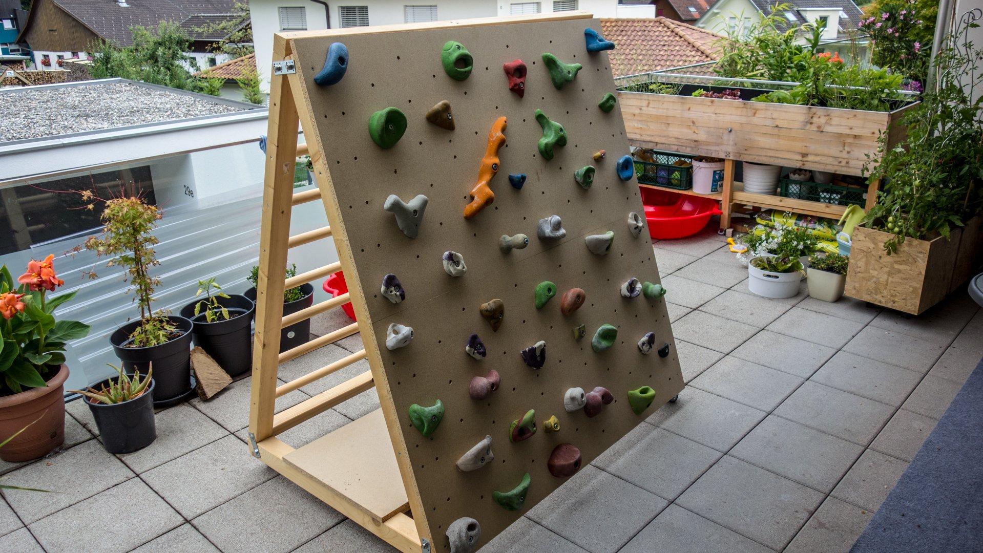 Kletterwand Plastik Holz Kleinkinder