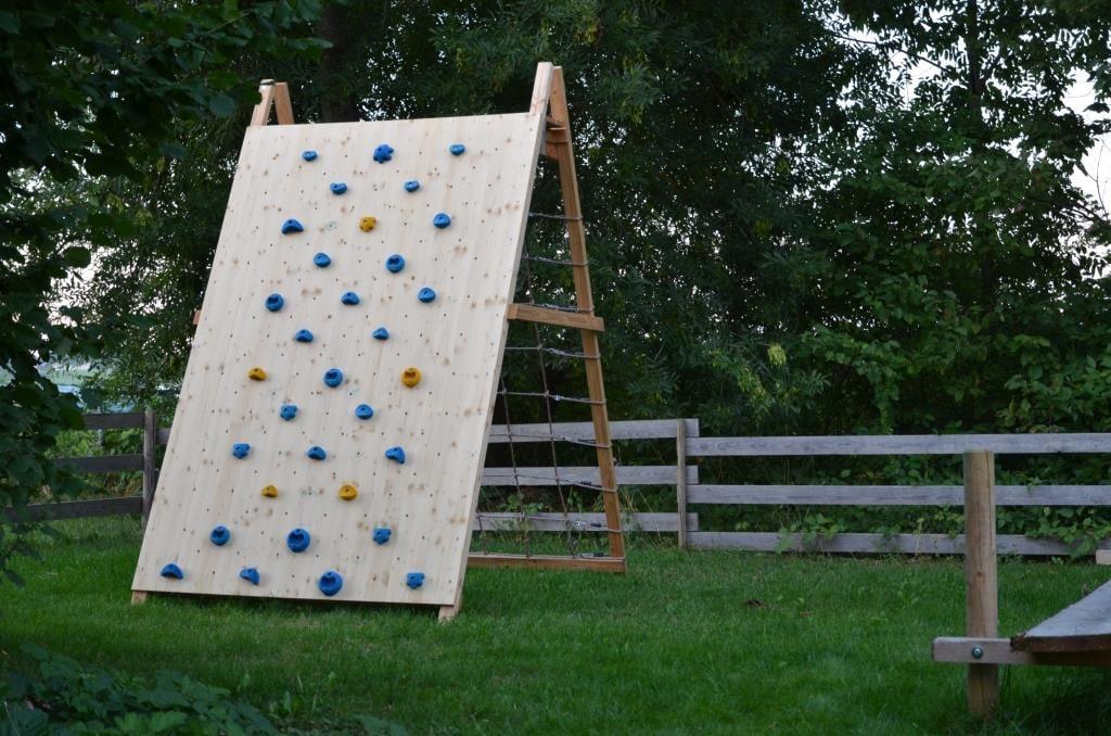 Kletterwand selber bauen Garten