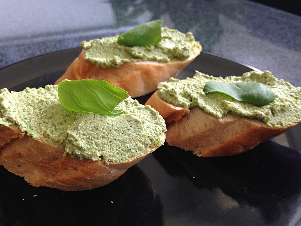 Kräuter-Brotaufstrich selber zubereiten gesund lecker