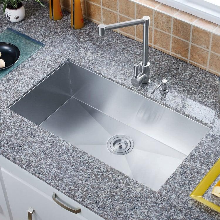 Arbeitsplatte Marmor Küchenspüle Edelstahl Unterbau