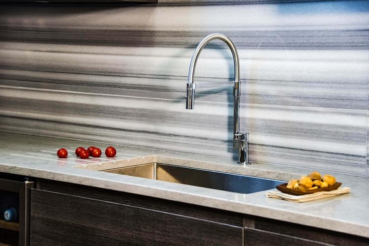 moderne Küchenspülen Unterbau minimalistisch