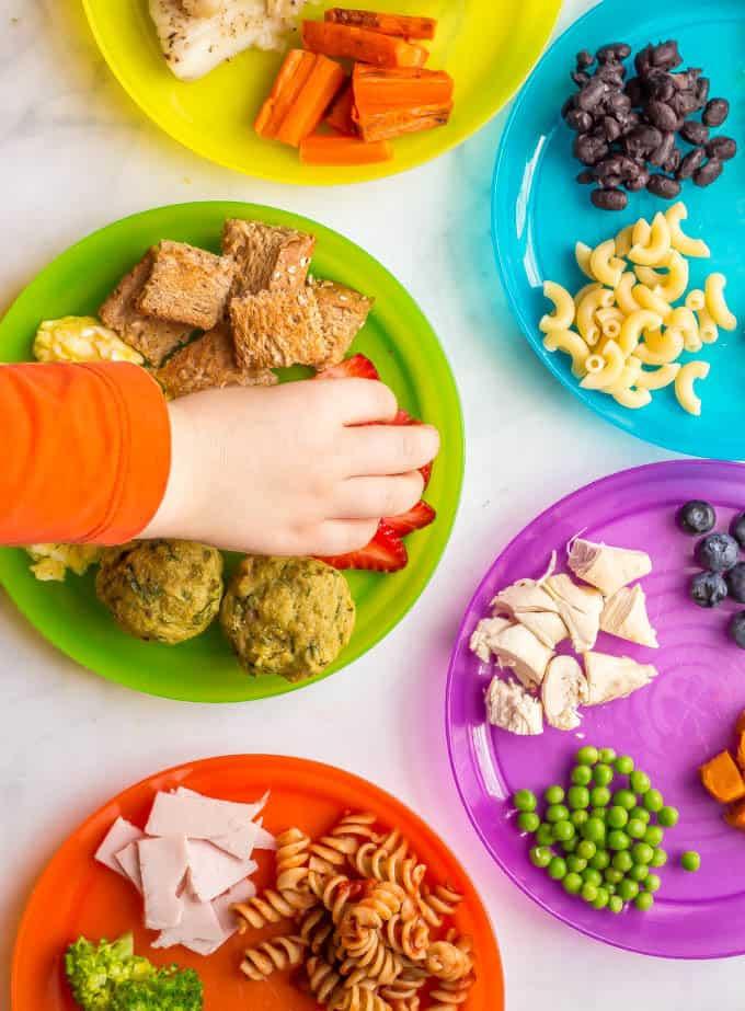 Fingerfood für Kinder Buffet anrichten kreative Ideen