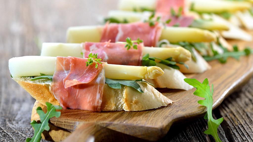Spargel kochen Bruchetta