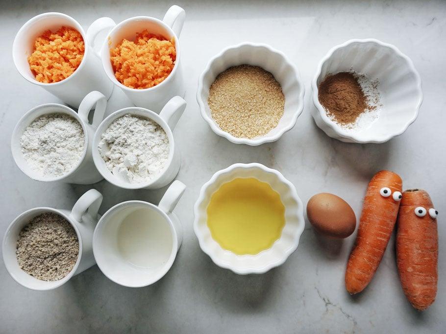 Zutaten Karottenkuchen zubereiten