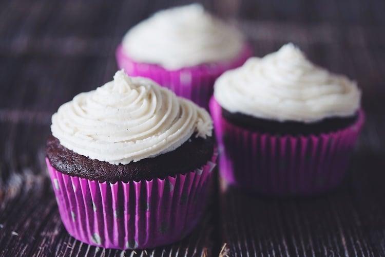 Cupcakes mit Sahnecreme vegan