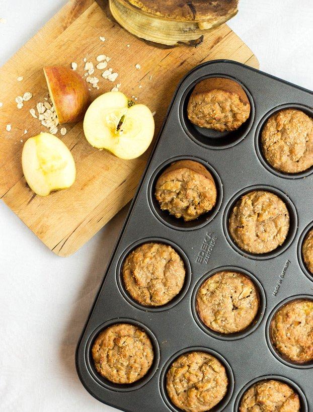 Muffins backen mit Apfel vegane Küche