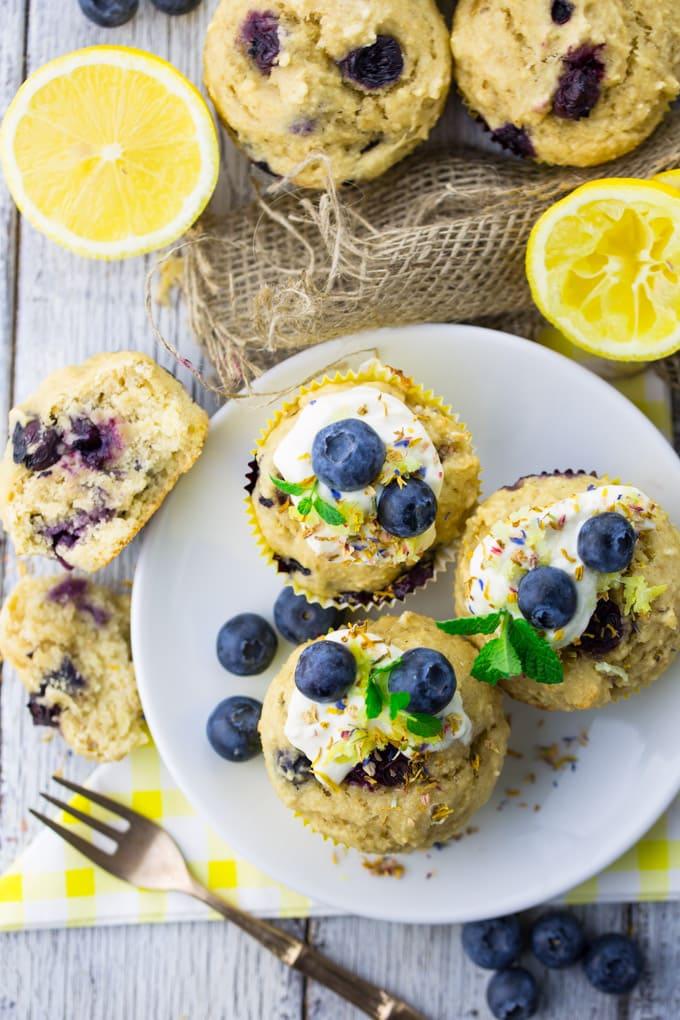 vegane Muffins mit Blaubeeren gesund lecker