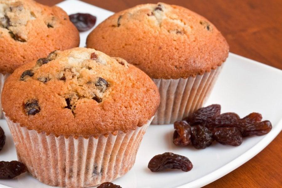 vegane Muffins mit Rosinen