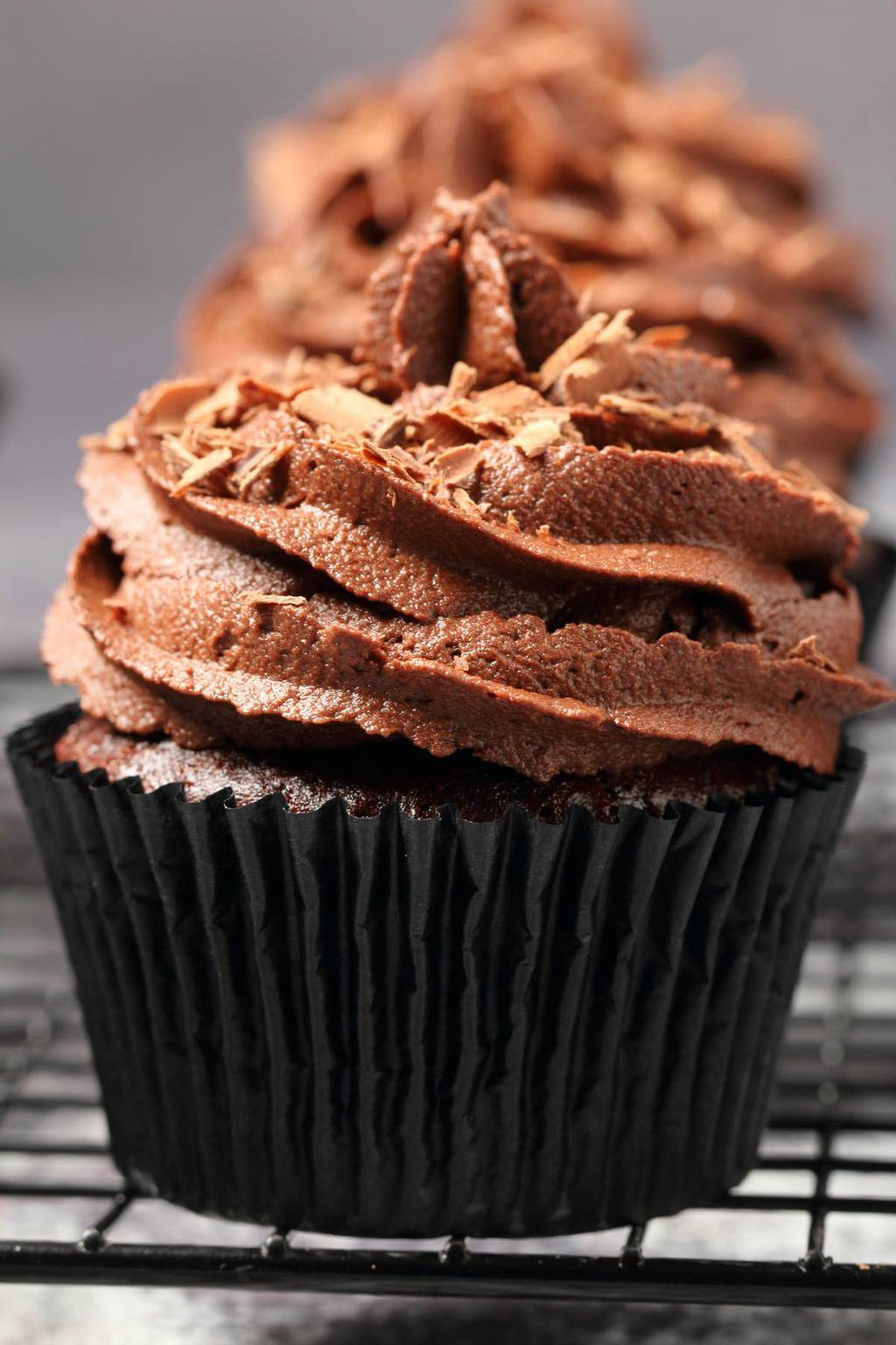 Cupcakes mit Schokocreme vegan