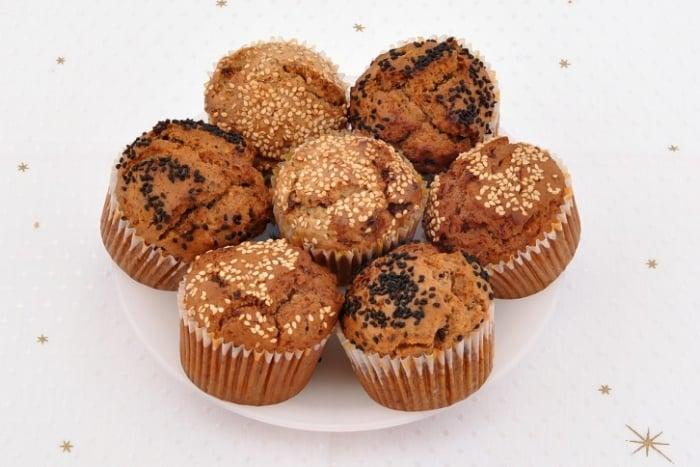 vegane Muffins mit Trockenfrüchten