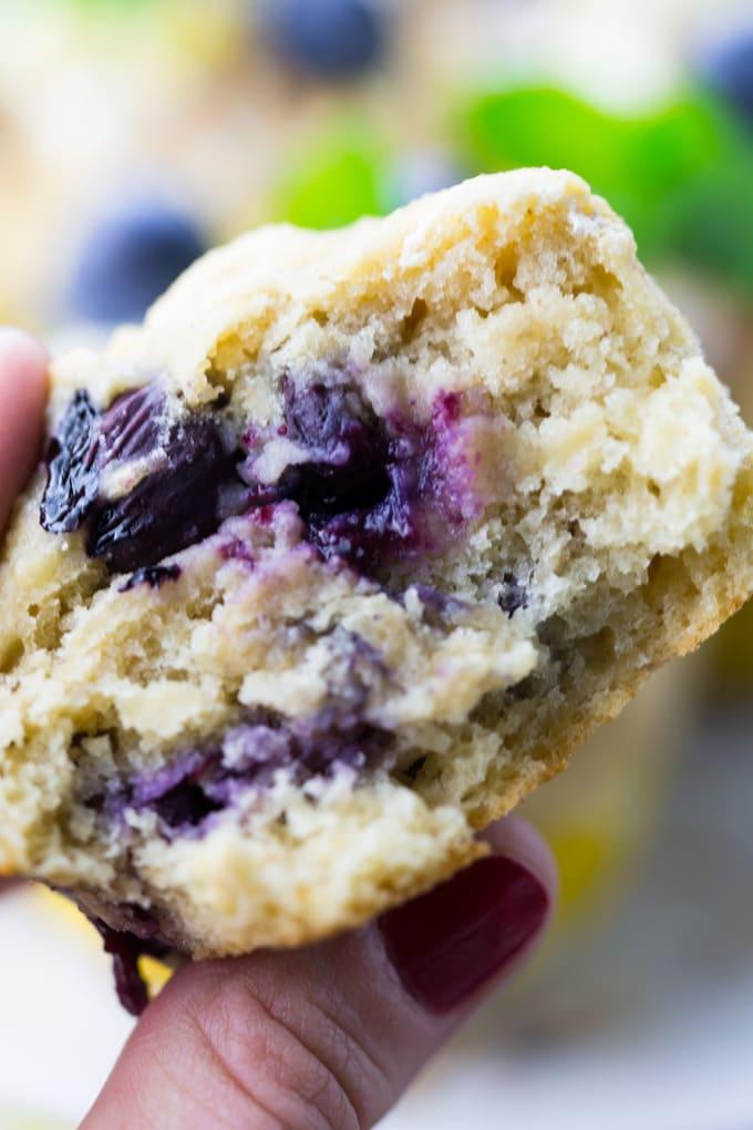 Muffins vegan Blaubeeren lecker Rezept