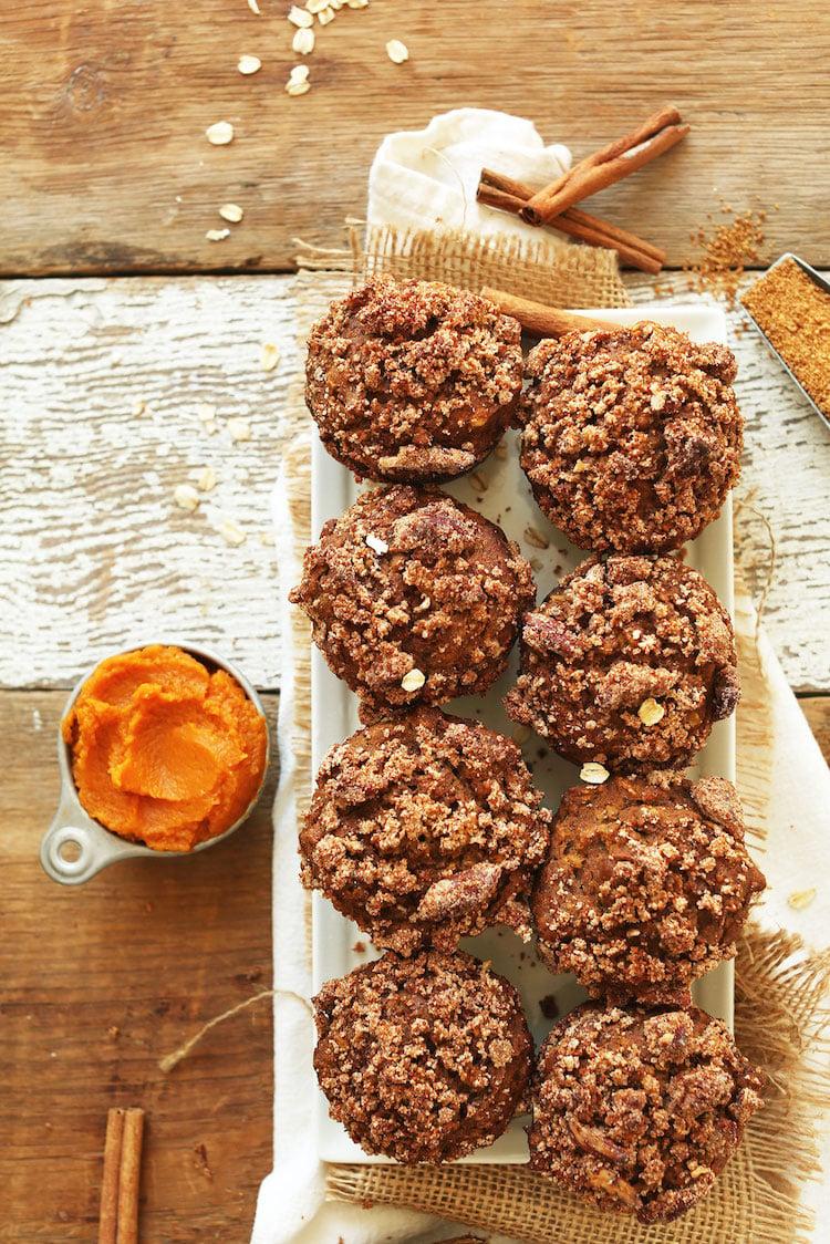 Rezepte vegan Muffins Walnüsse Kürbis