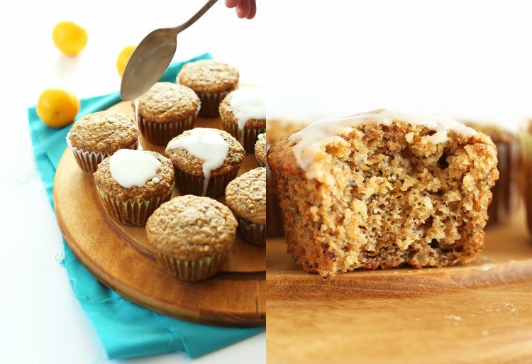 vegane Muffins backen mit Zuckerguss
