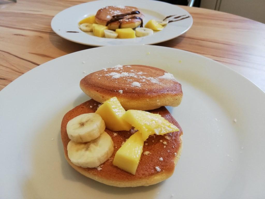fluffige Pancakes Rezept Serviervorschlag