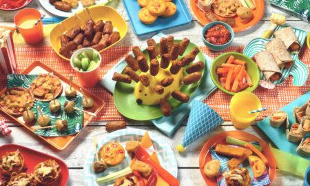 Fingerfood für Kinder Buffet anrichten