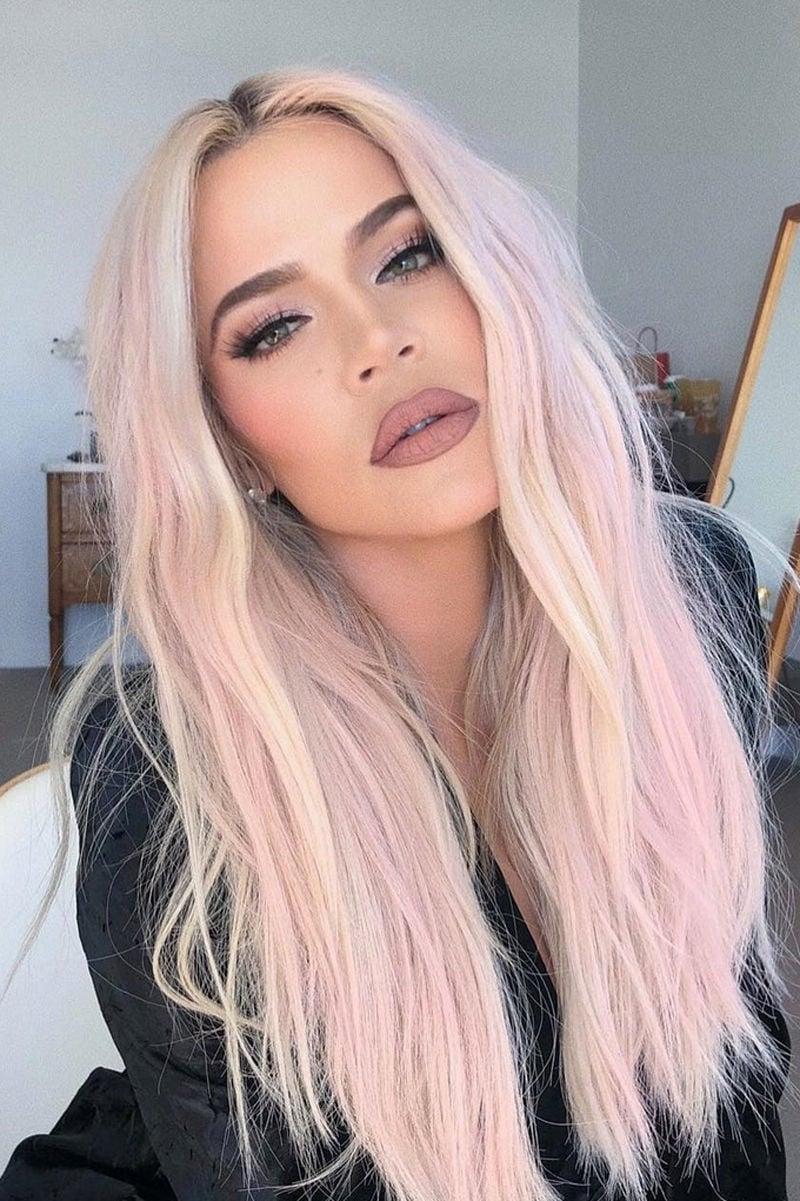Haarfarbe Pastellrosa Trend Stars