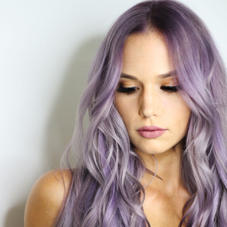 bunte Haare färben Violett pastellig stilvoll