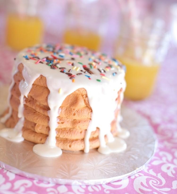 Pfannkuchen mit Glasur selber backen lecker