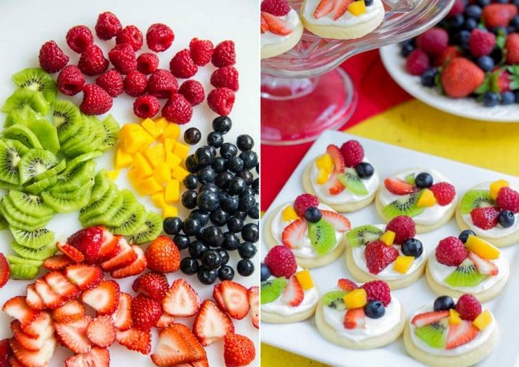 Plätzchen mit frischen Früchten selber zubereiten