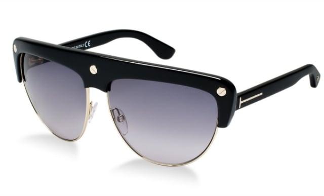Sonnenbrille unisex Gestell oben verstärkt schwarz