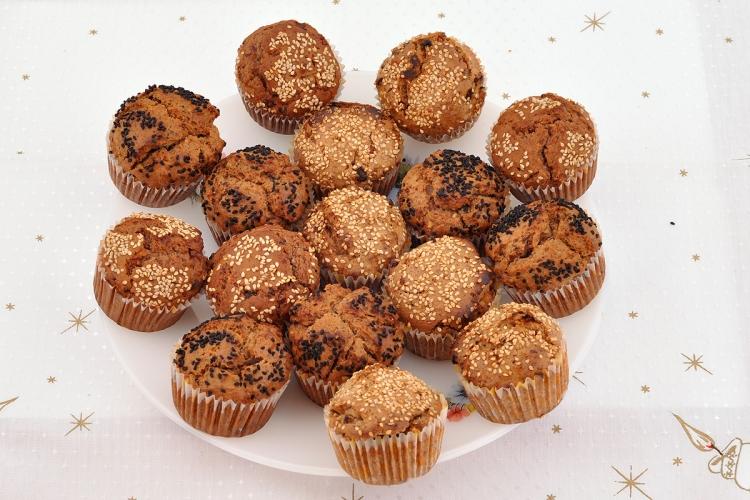 vegane Muffins mit Trockenfrüchten selber backen