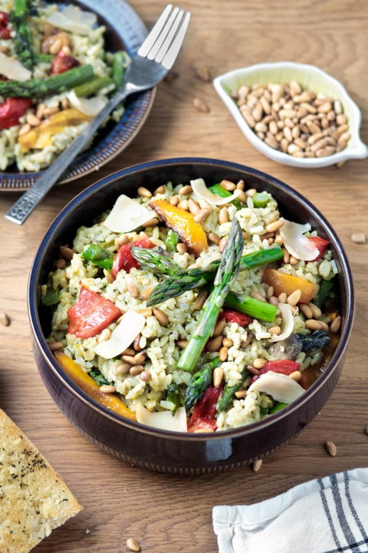 vegetarische Gerichte Sommer Risotto lecker