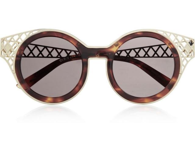 Retro Brillen mit runden Gläsern Gestell Netz