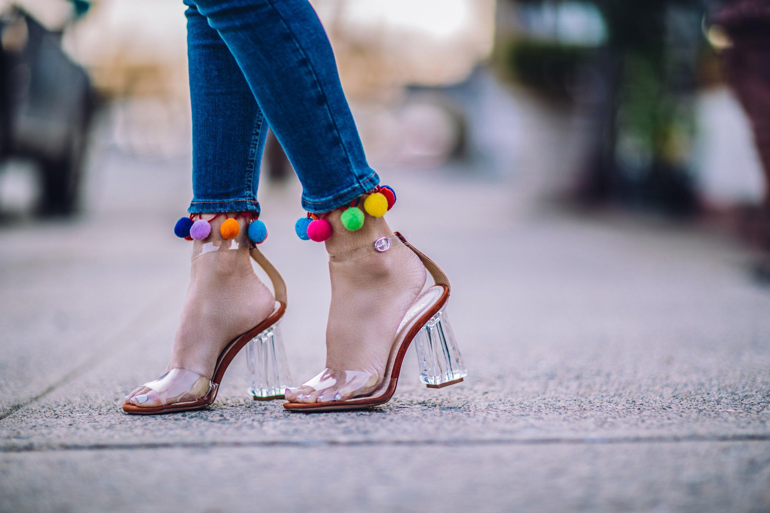 transparente Schuhe hoch Sommer modern