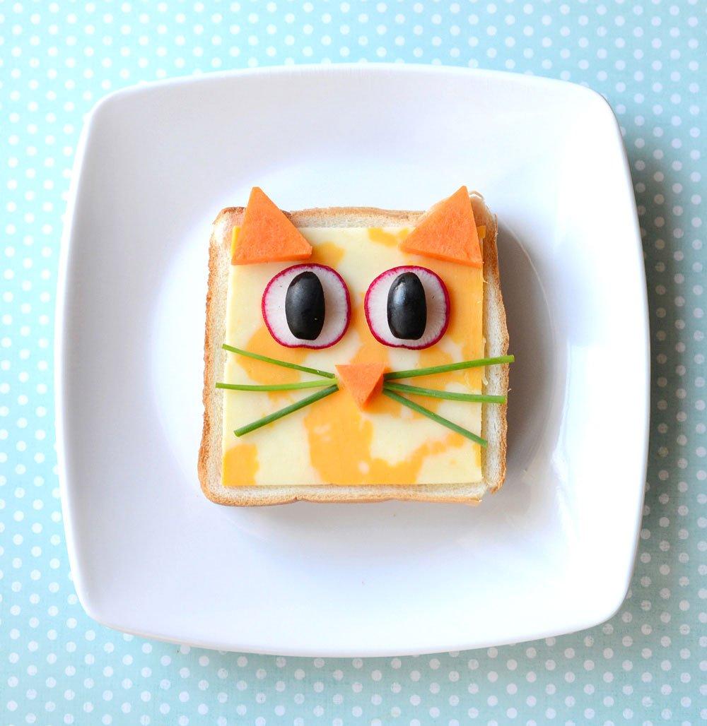 Fingerfood für Kinder Sandwich Katzengesicht
