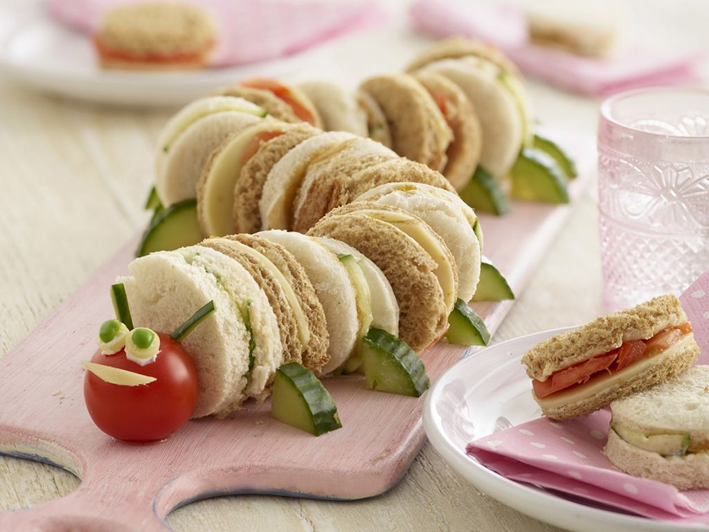 Fingerfood für Kinder kreative Ideen Sandwiches