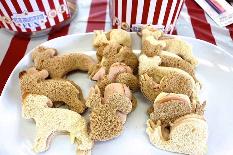 Häppchen Party Sandwiches Tierform