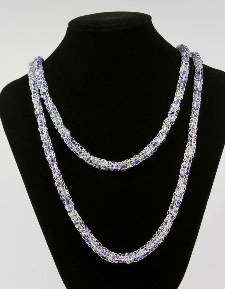 originelle Halskette gestrickt selber machen