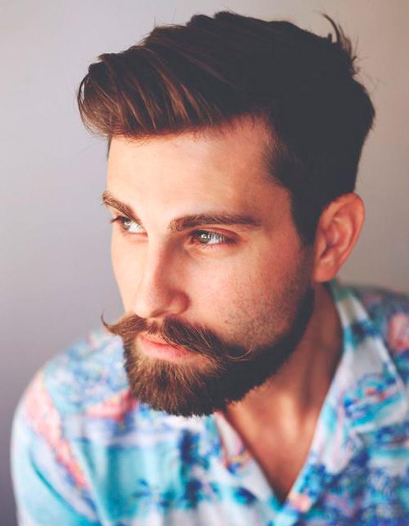 Schnurrbart Mann stilvoller Look