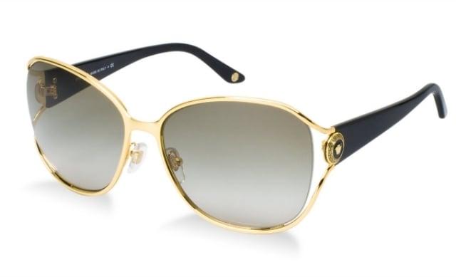 Sonnenbrille Damen dünnes Metallgestell golden