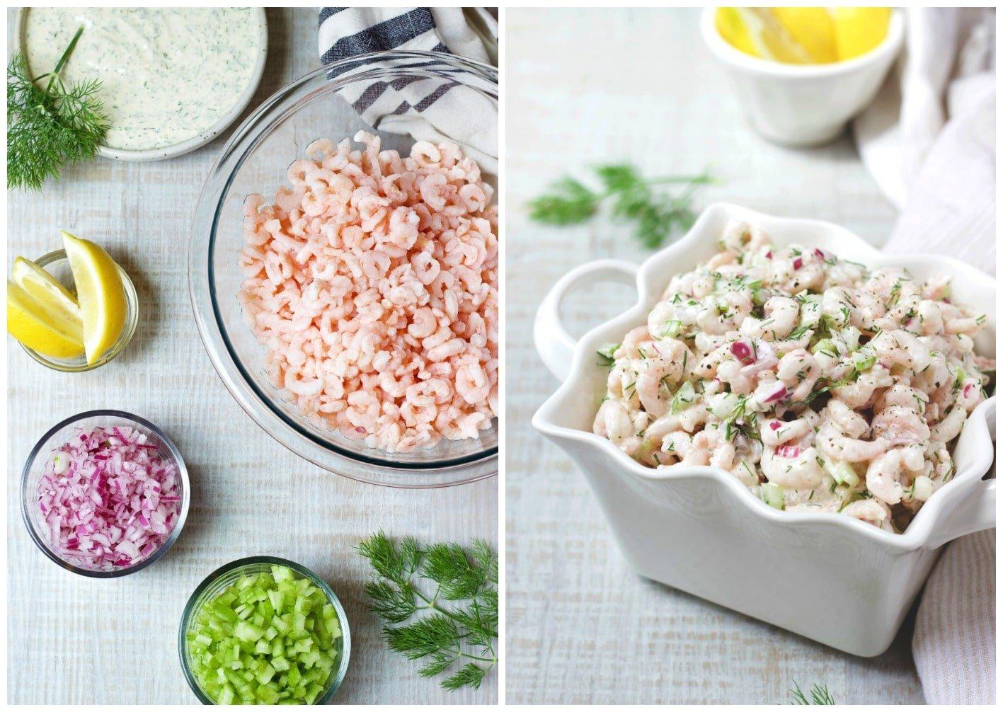 Shrimps Rezepte Salat mit Mayonnaise