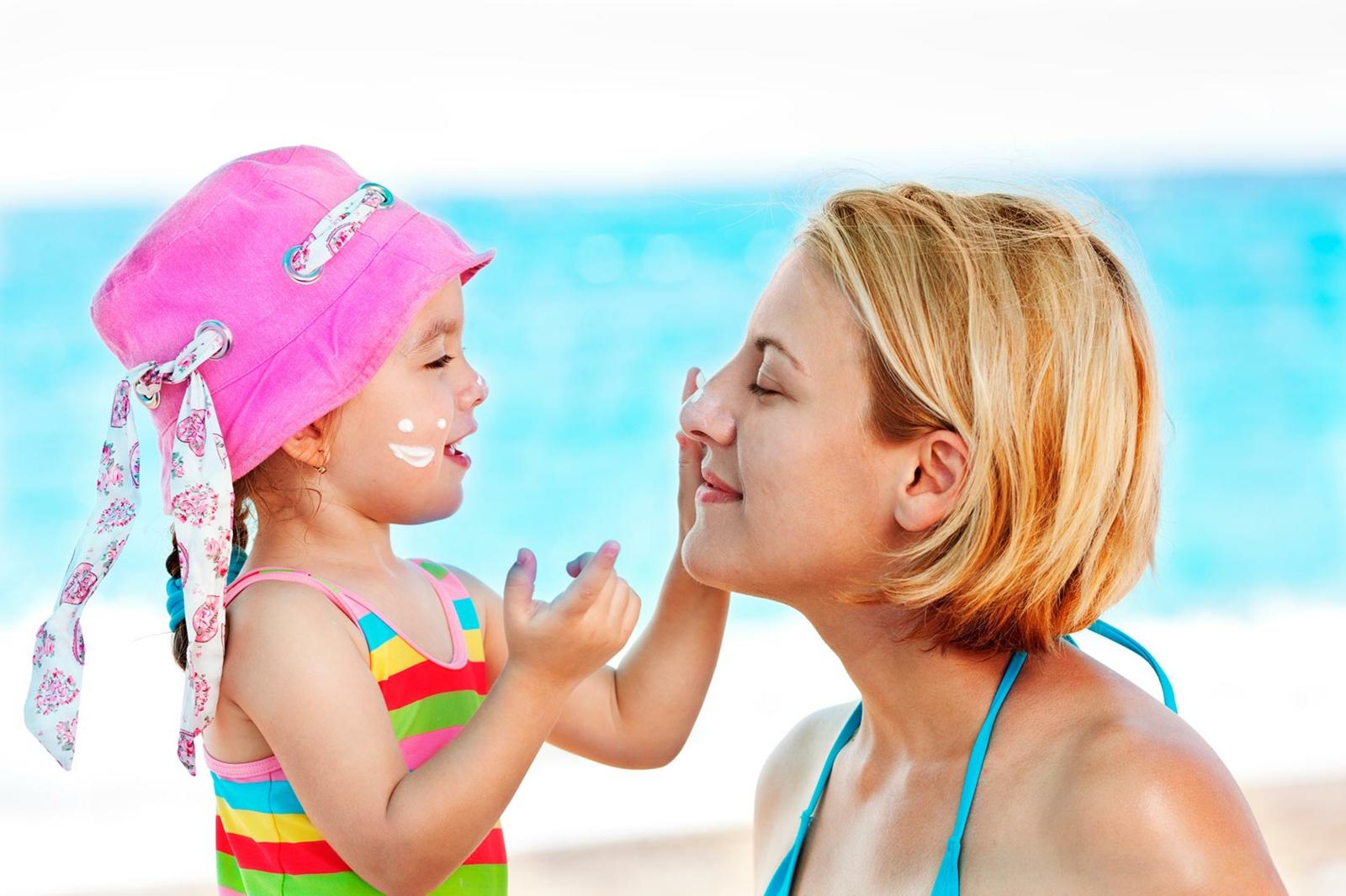 Sonnenschutz Sommer Hautpflege für Kinder und Eltern
