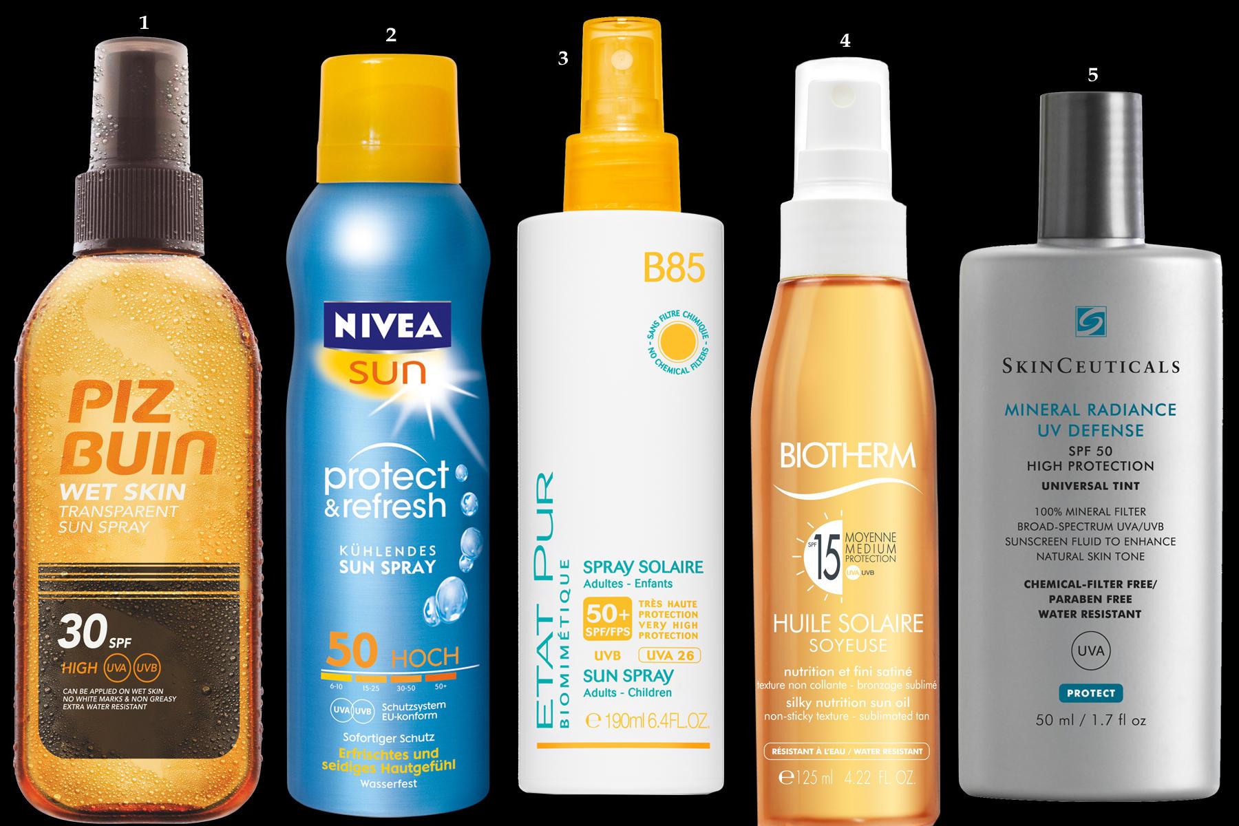Sonnenschutzprodukte Creme Spray Sommer