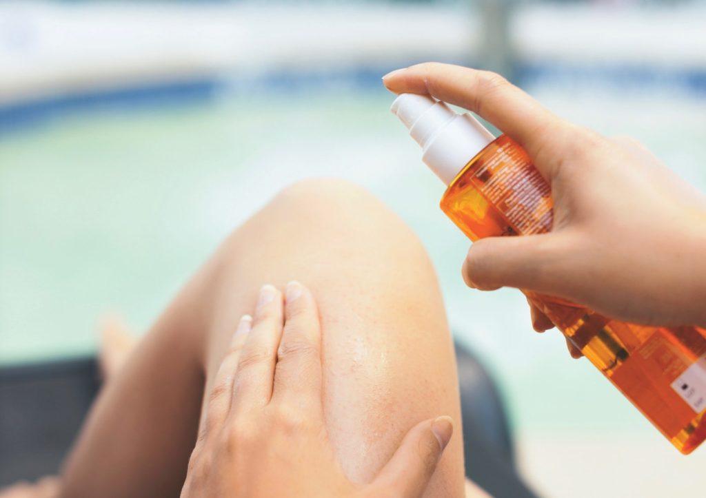 Sonnenschutzspray Hautpflege im Sommer