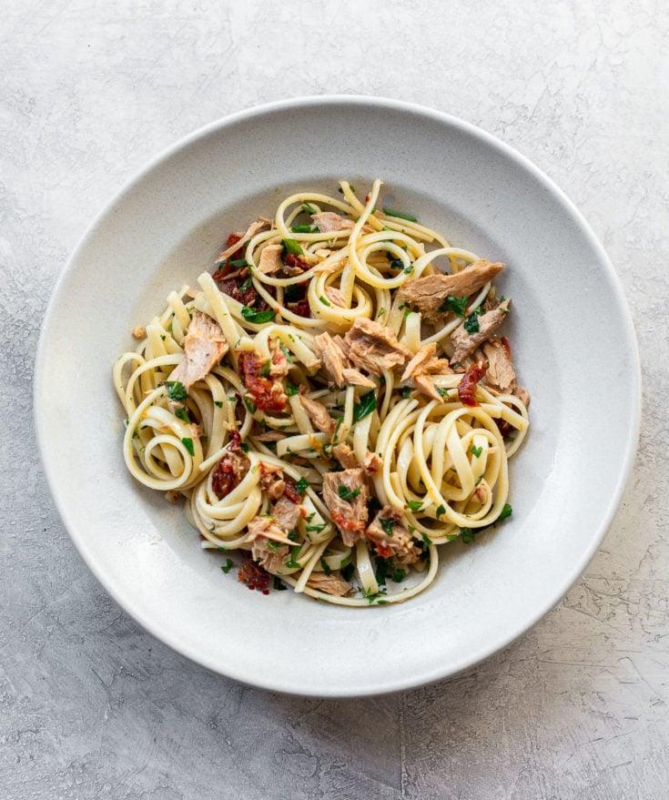 Spaghetti mit Fisch selber zubereiten