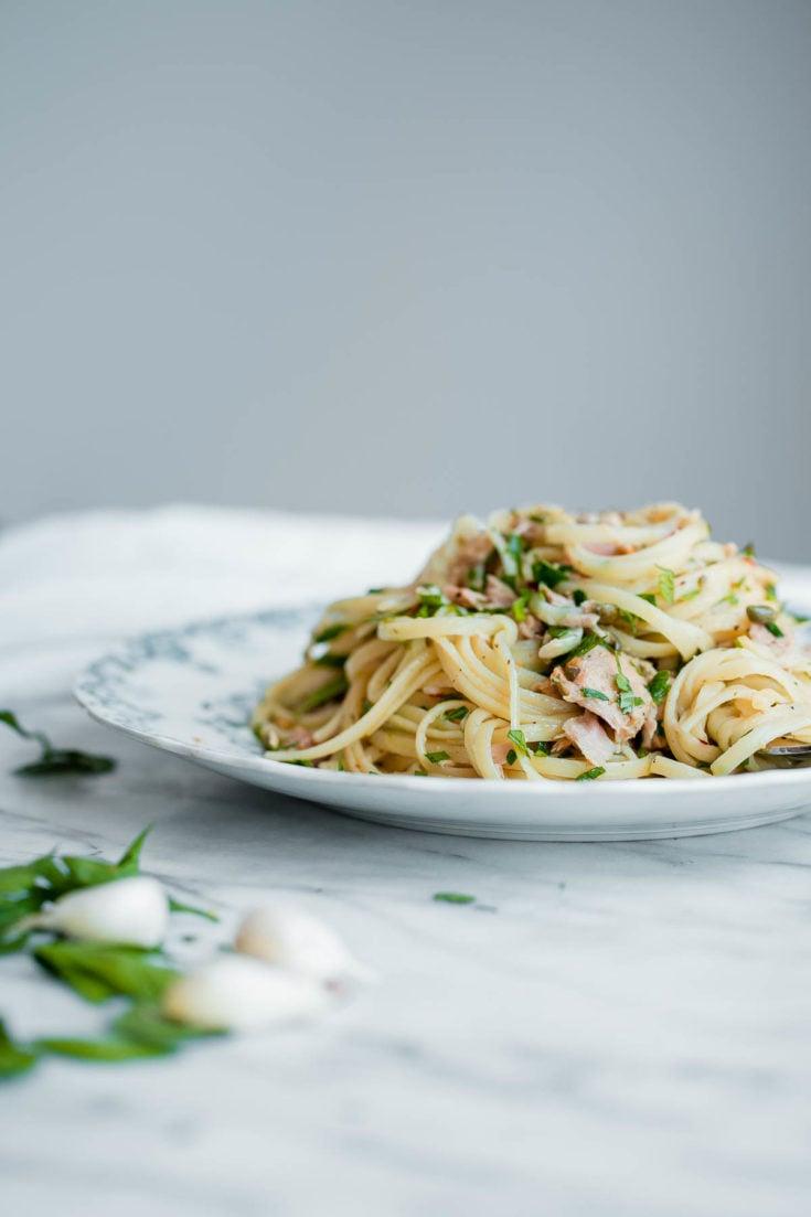 Spaghetti mit Fisch leckeres Rezept