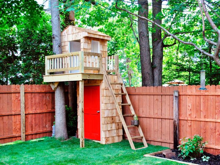 Stelzenhaus selber bauen Garten Kinder