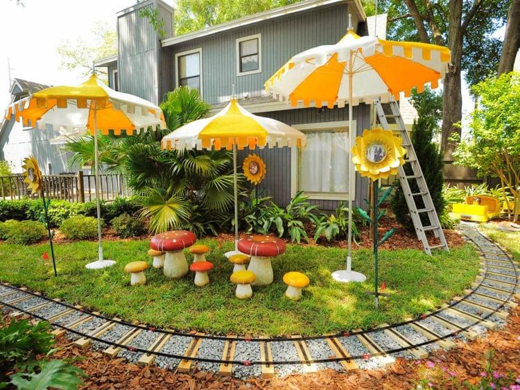 Kinderspielplatz Garten Sonnenschutz