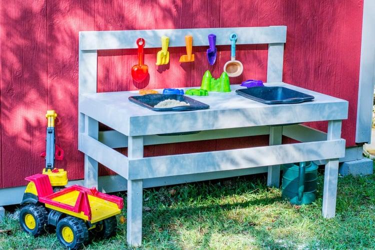 Kinderspiele Outdoog Garten Sandkasten