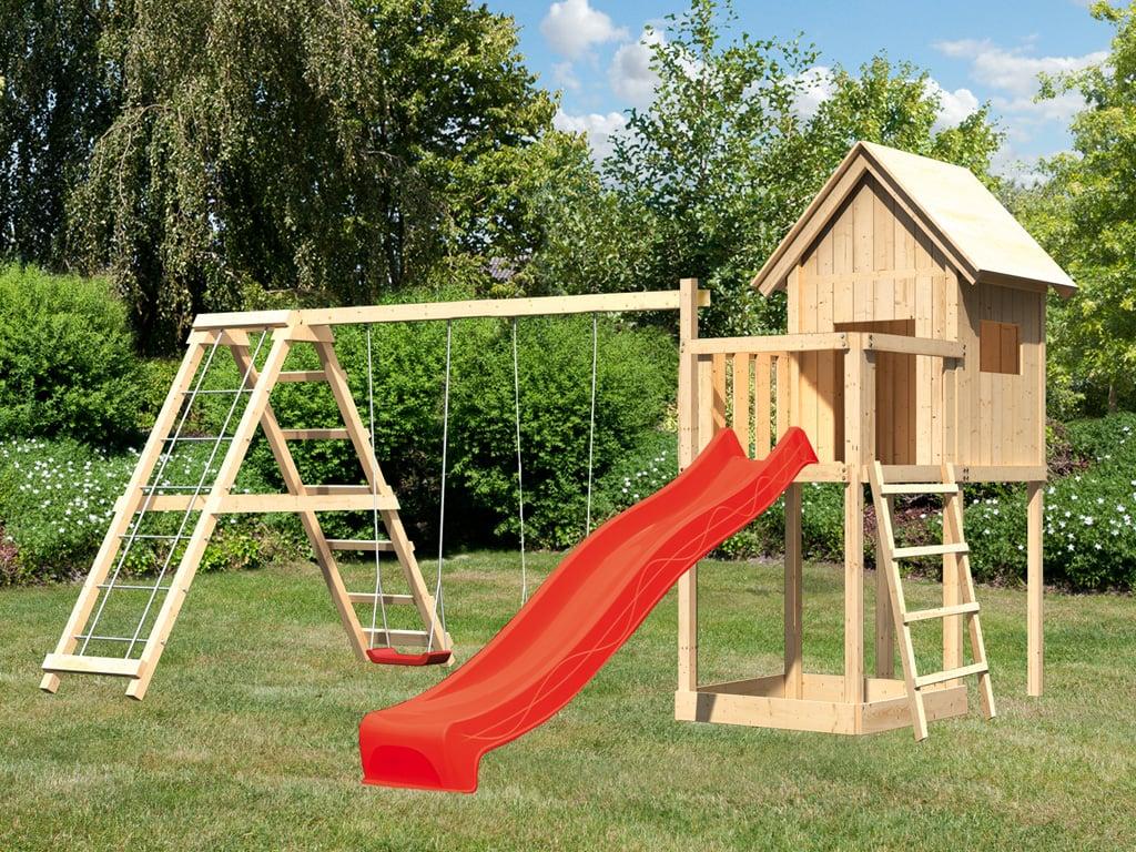 Klettergerüst Stelzenhaus Schaukel Rutsche Kinderspielplatz