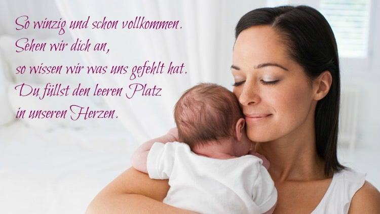 Spruch Baby in Versen
