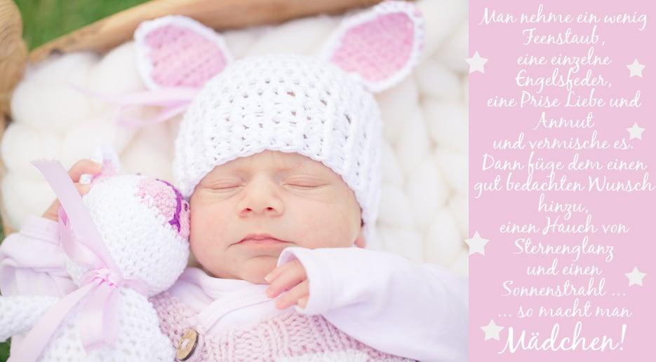 Sprüche zur Geburt Mädchen inspirierende Ideen