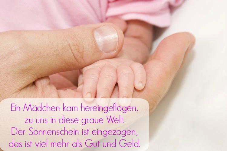 Sprüche zur Geburt Mädchen in Versen