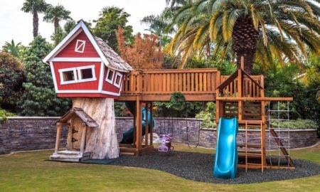 Stelzenhaus ausgefallen Garten Rutsche